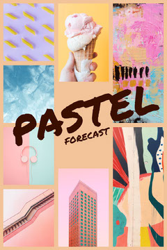Pastel and Colorful Collage Ice Creams