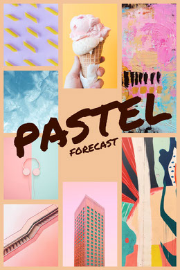 Pastel and Colorful Collage Montage photo