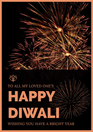 Black and Brown, Diwali Wishes Card Diwali