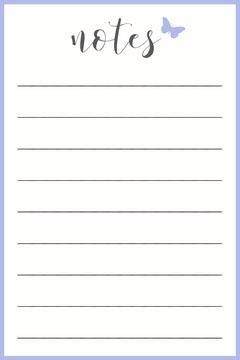 Light Blue Notes Pinterest Graphic Blue