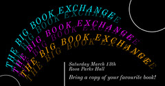 Black And Rainbox Book Exchange Facebook Event Cover Event Banner