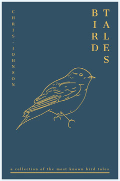 Blue and Yellow Bird Kindle Book Cover Bird