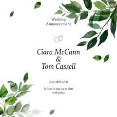 Cassell Wedding Announcement Instagram Square Weddings