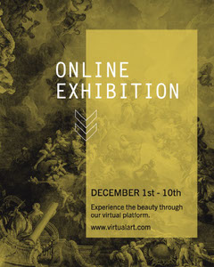 Yellow Filtered Online Exhibition Instagram Portrait  Art Exhibition
