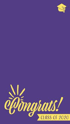 Congrats Class of 2020 Snapchat Geofilter Purple