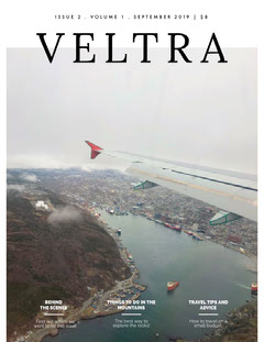 Airplane Travel and Tourism Magazine Cover Adventure
