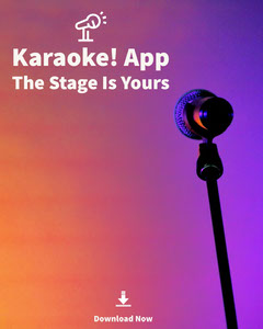 Violet and White Karaoke Application Social Post Karaoke Flyer