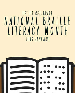 National Braille Literacy Month IG Portrait Celebration