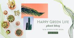 Grey Green Life Blog Facebook Ad Cactus