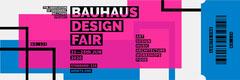 Bauhaus design fair ticket Event Banner