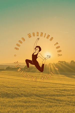 yellow morning sunrise yoga Pinterest  Yoga Posters
