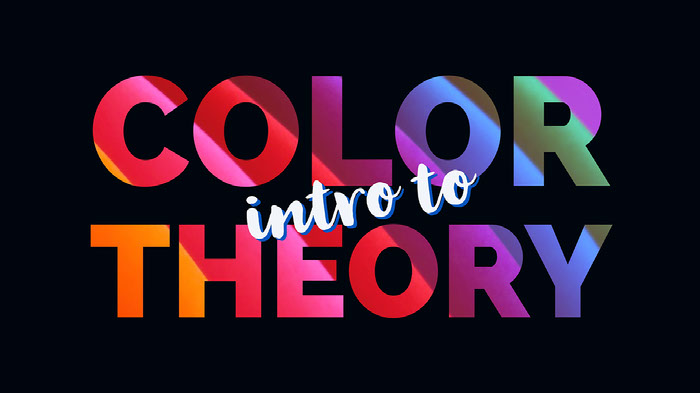 Multicolored Intro to Color Theory Youtube Thumbnail with Black Background  Ideas de banner YouTube