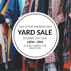 circle yard sale Yard Sale Flyer