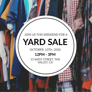Colorful Clothing Yard Sale Event Ad Instagram Post Yard Sale Sign