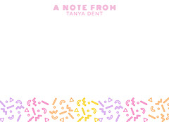 colorful playful notecard Confetti