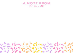 colorful playful notecard Note Card