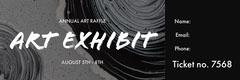 Black and White Art Exhibit Ticket Art Exhibition