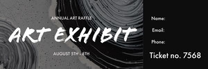 Black and White Art Exhibit Ticket Bilhete de sorteio
