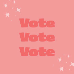 Pink and White Vote Instagram Graphic Election