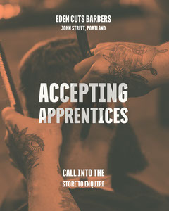 Sepia Barber Shop Apprenticeship Open Position Instagram Portrait Barber