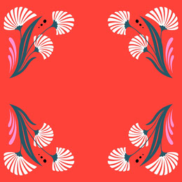 Red and White Floral Pattern Frame Instagram Post Artists Collection: Adobe Spark Stylemakers