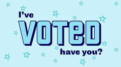 blue navy I've voted have you Twitter  Election