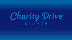 Blue Charity Launch Presentation Cover Widescreen  Launch