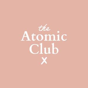 Pink Atomic Club Logo Typography Logo
