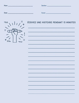 writing worksheet  Fiche d'exercices