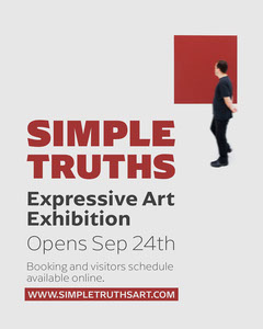 Red and White Art Exhibition Poster Art Exhibition