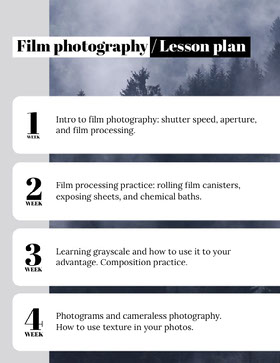 Film Photography School Lesson Plan Educator