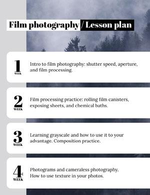 Film photography / Lesson plan