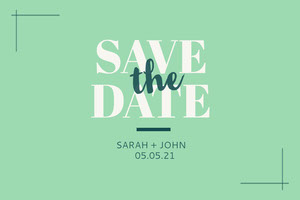Light Toned, Green and White Wedding Invitation Facebook Banner Banner per matrimonio