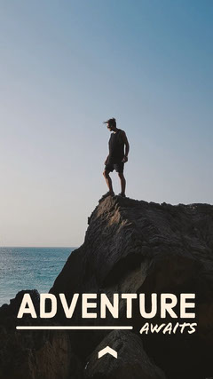Man on Cliff Adventure Instagram Story Instagram Story