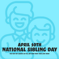 National Sibling Day Instagram Square Holiday