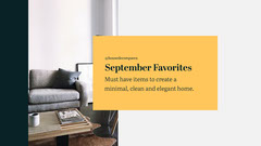 Yellow Black White Furniture Home Decor Blog Banner Decor