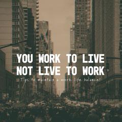 Work Life Balance Instagram Square Career Poster