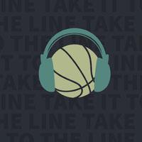 Dark Blue Basketball Podcast Cover Instagram Post Basketball