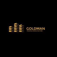Black and Gold Finance Firm Logo Instagram Post Finance