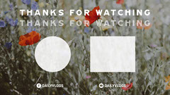 floral thanks for watching YouTube outro thumbnail  Career Poster