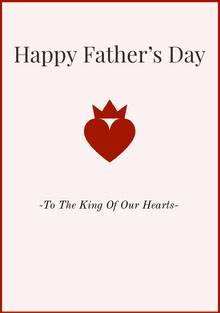 Red Happy Fathers Day Card with Heart Carte de Fête des pères