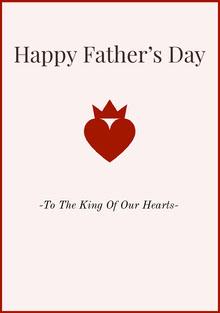 Red Happy Fathers Day Card with Heart Isänpäiväkortti