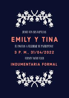 blue and white floral wedding cards  Tarjetas de agradecimiento de boda