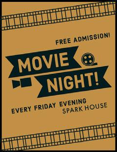 Movie Movie Night Flyer