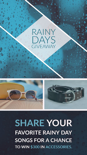 Blue and White Rainy Days Giveaway Social Post Instagram Giveaway