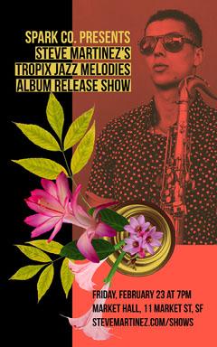 Red Yellow and Black Jazz Music Artist Album Release Show Flyer Jazz