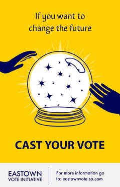Yellow Cast Your Vote Poster  Voting