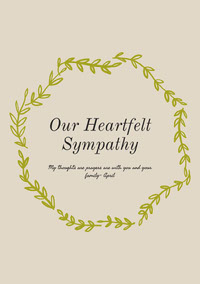 Our Heartfelt Sympathy Sympathy Card