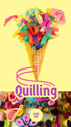 Multicolored Quilling How To Instagram Story Ice Cream Social Flyer
