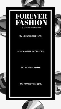 Black and White Fashion Quiz Instagram Story Quiz Night Poster